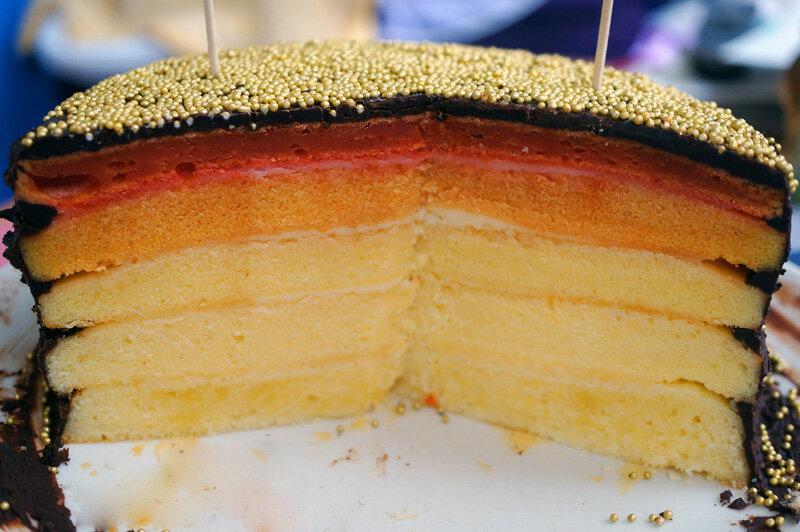 Как сделать коржи для разноцветного торта 987