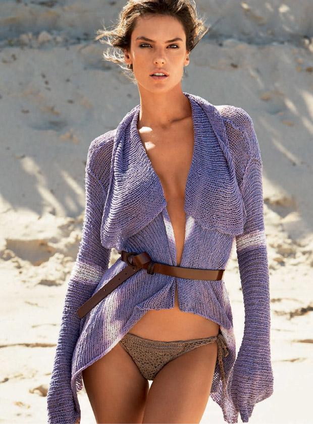Алессандра Амбросио (Alessandra Ambrosio) в журнале Vogue Brazil (7 фото)