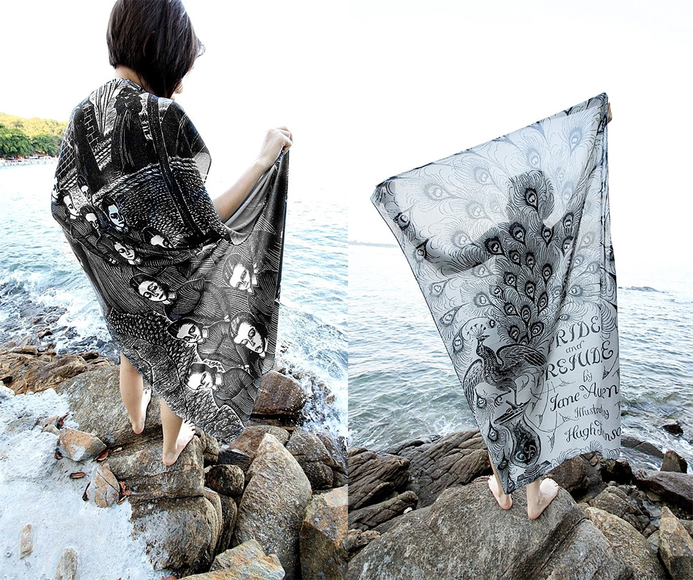 Drape Yourself in Literature with Book Scarves from FreshComfy