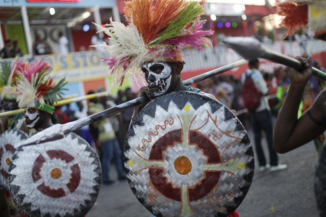 Revellers take part in the Carnival 2016 parade in Port-au-Prince, Haiti, February 8, 2016. Carnival