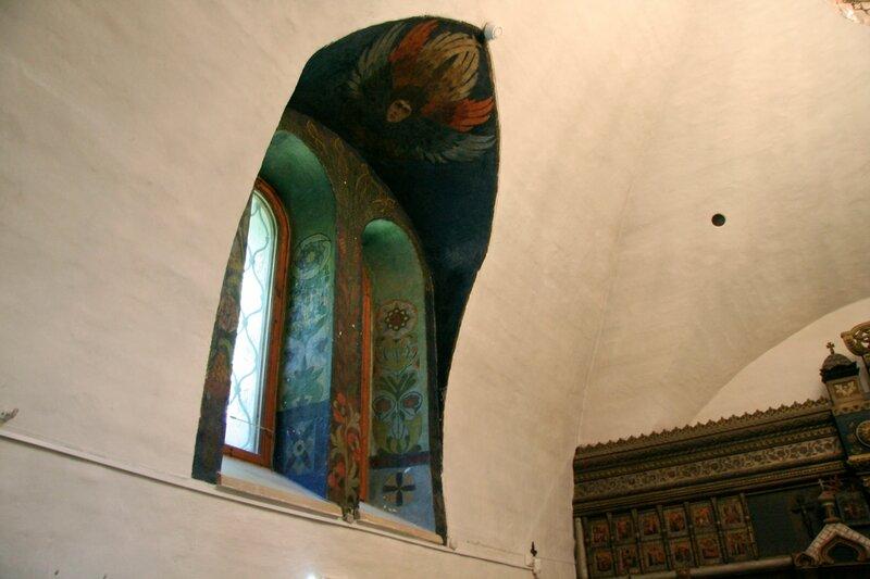 Абрамцево, церковь Спаса Нерукотворного. Роспись окна
