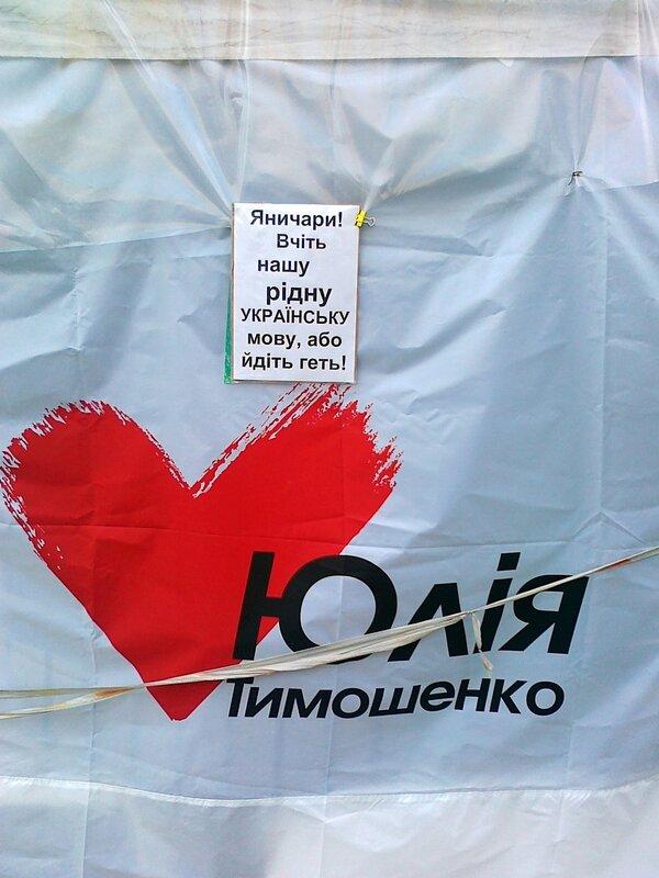 Листовка лагеря Юлии Тимошенко