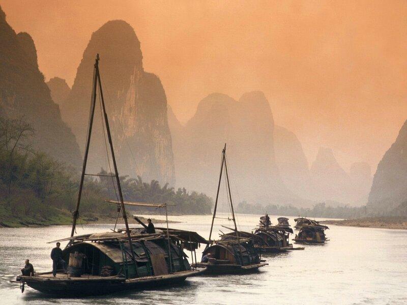 Живописная река Ли