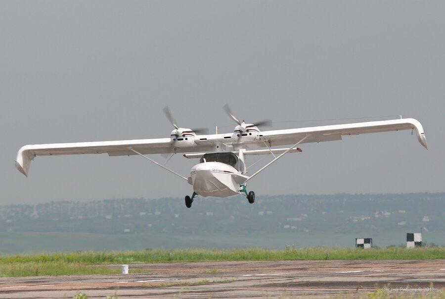 схема самолета - лодка с