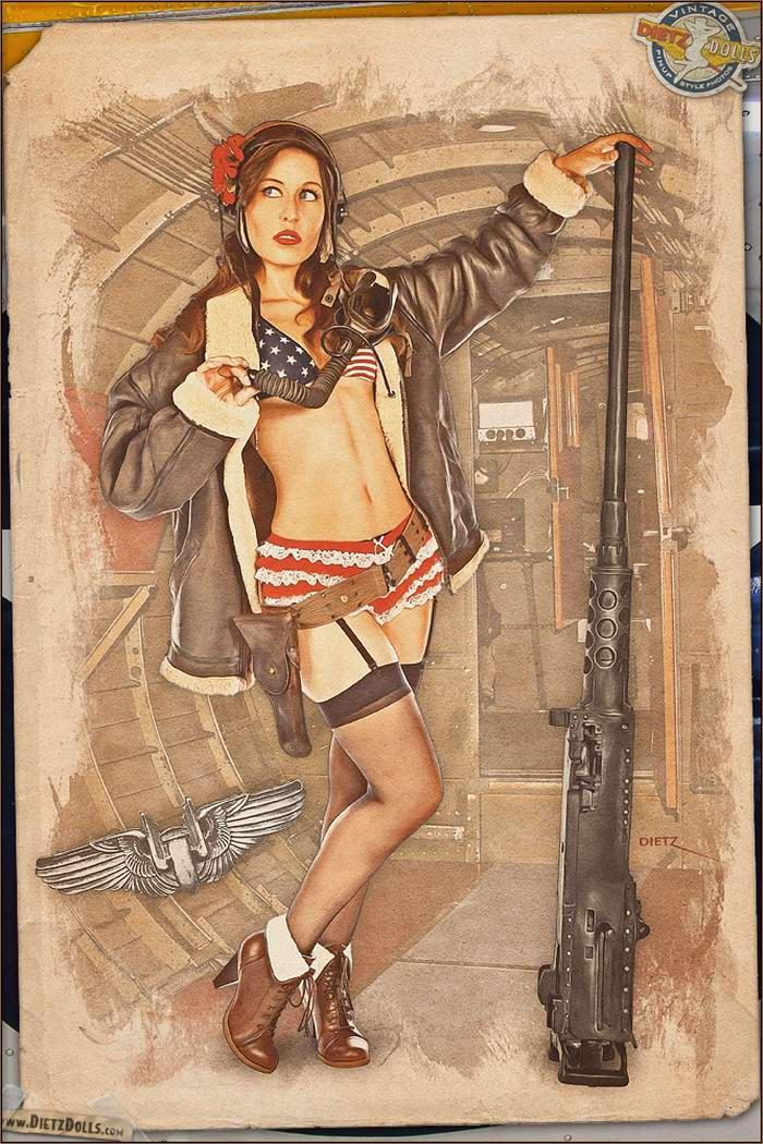 Армейский pin-up в стиле 1940-х годов от американского художника Britt Dietz (6)