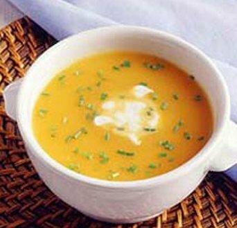 Суп картофельный протертый с помидорами