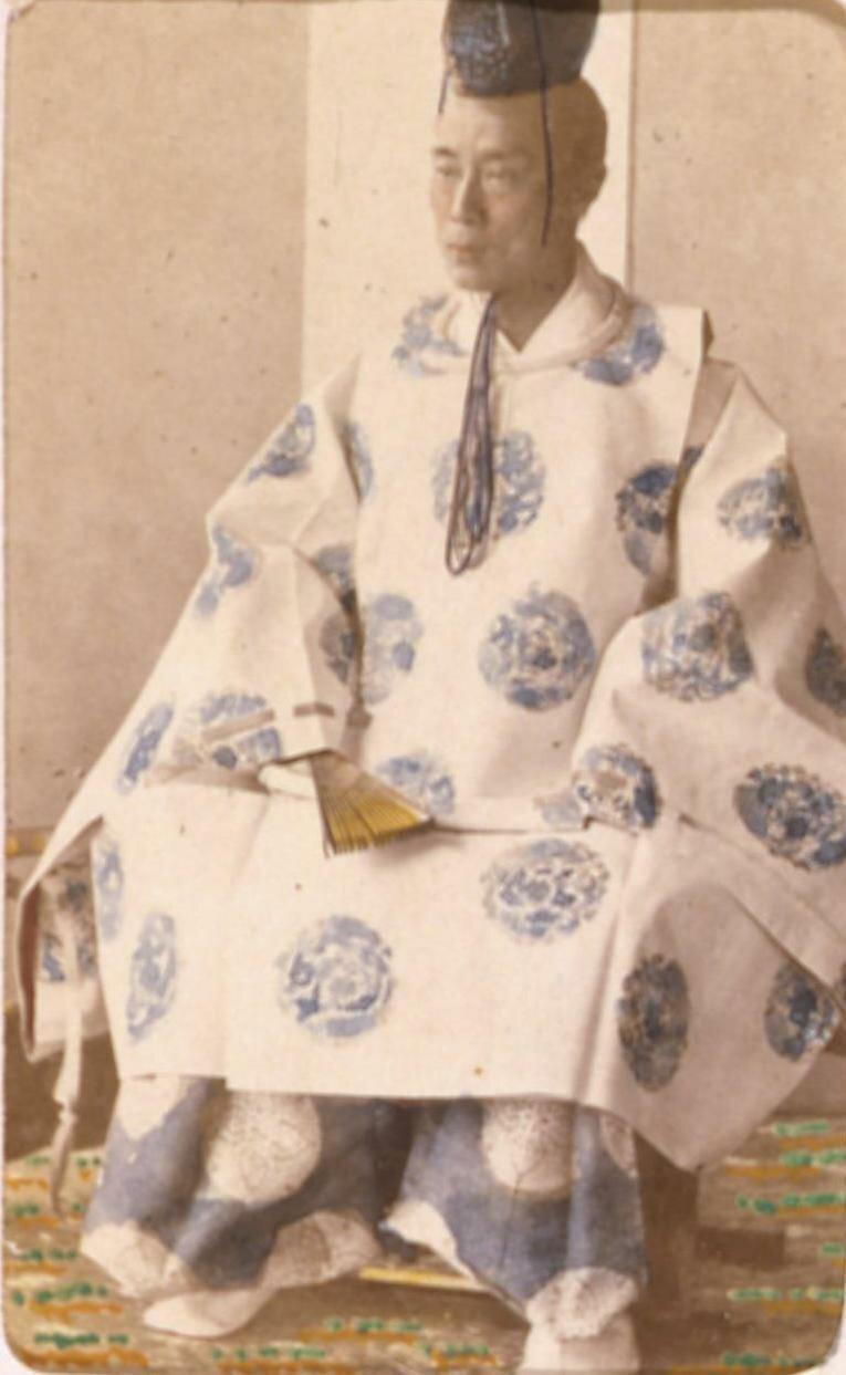 Японский магнат в полном придворном костюме. 1863
