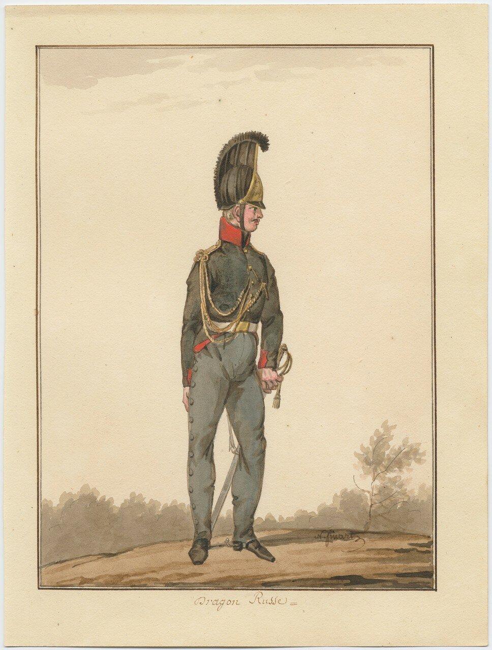 Русский драгун, 1815