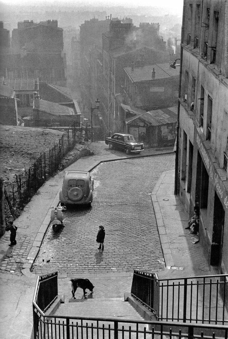 1955. Рю Вилин. Бельвиль, Париж