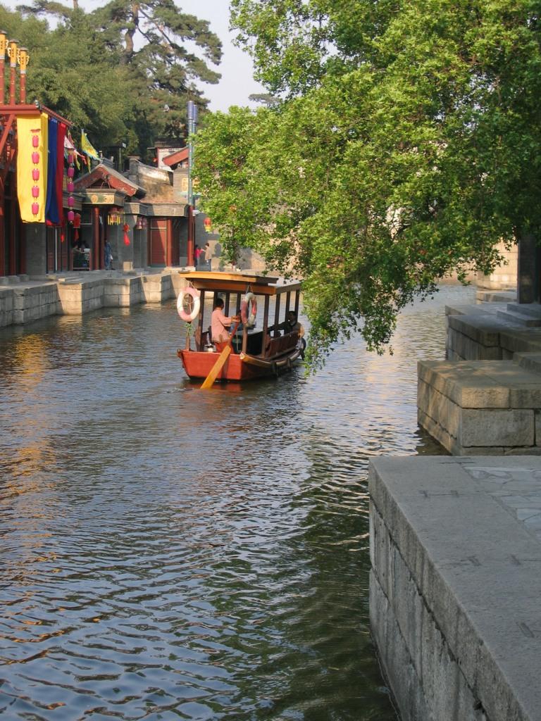 Лодочка, улица Сучжоу, парк Ихэюань