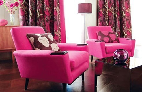 розовый и лиловый в интерьере
