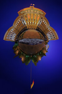 чебоксары панорама ночь микропланета Чебоксары город