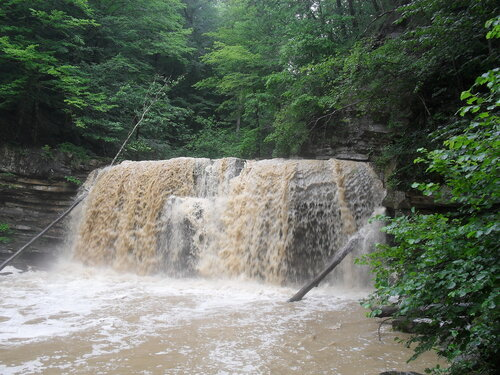 После дождя. Пшадский водопад.