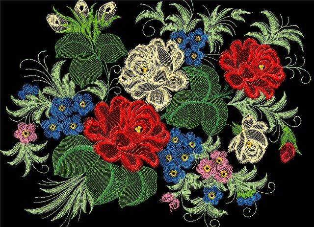 Бесплатная коллекция дизайнов машинной вышивки на Broidery.ru Жестово.