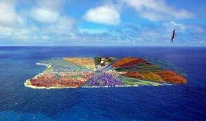 Проект искусственного обитаемого острова Recycled Island
