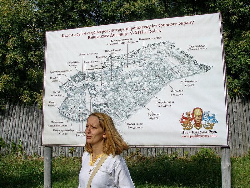 карта Киевского Дитынця