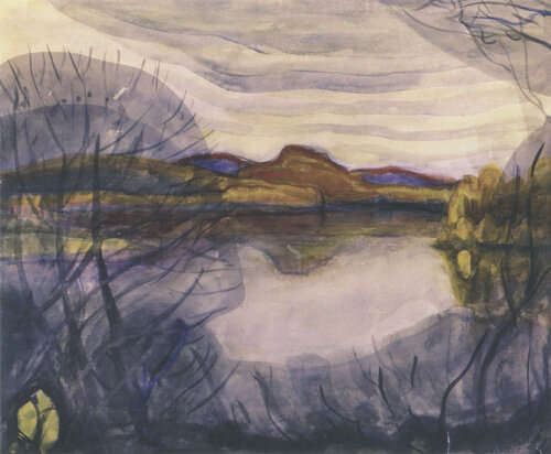 Озеро Азас, Тува. Бумага, акварель. 1962.jpg