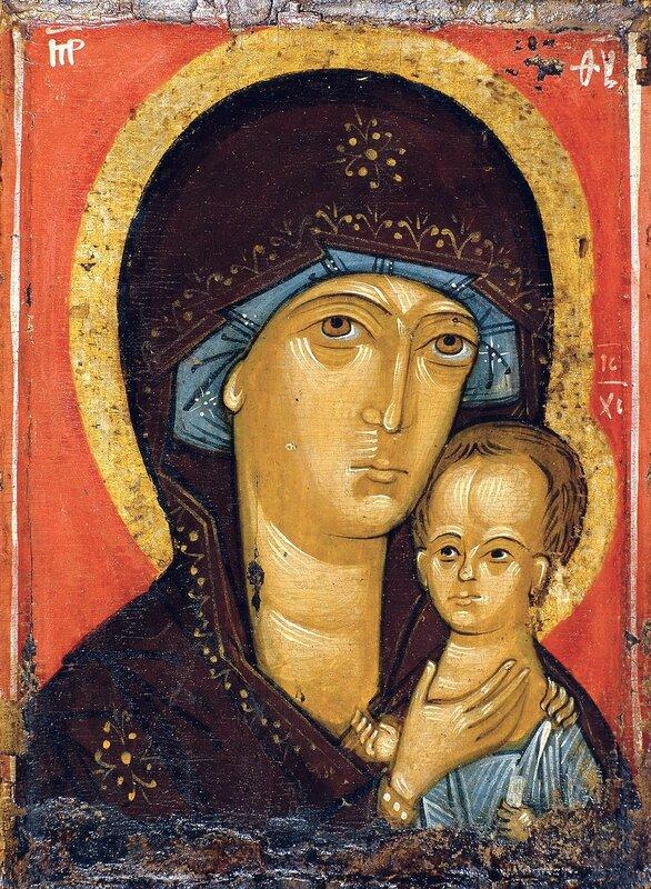 Петровская икона Божией Матери. XIV век.