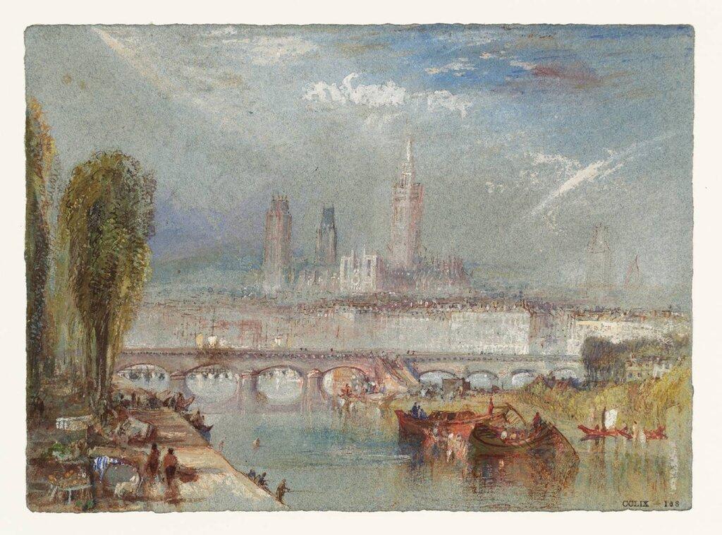 Rouen, Looking Downstream circa 1832 by Joseph Mallord William Turner 1775-1851