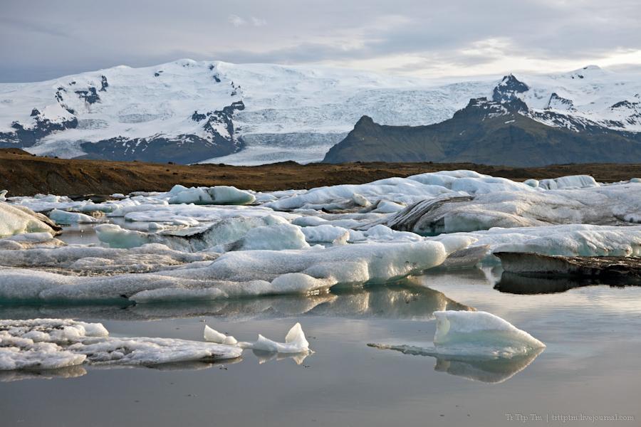 9. Тихий вечер у Ледниковой лагуны.