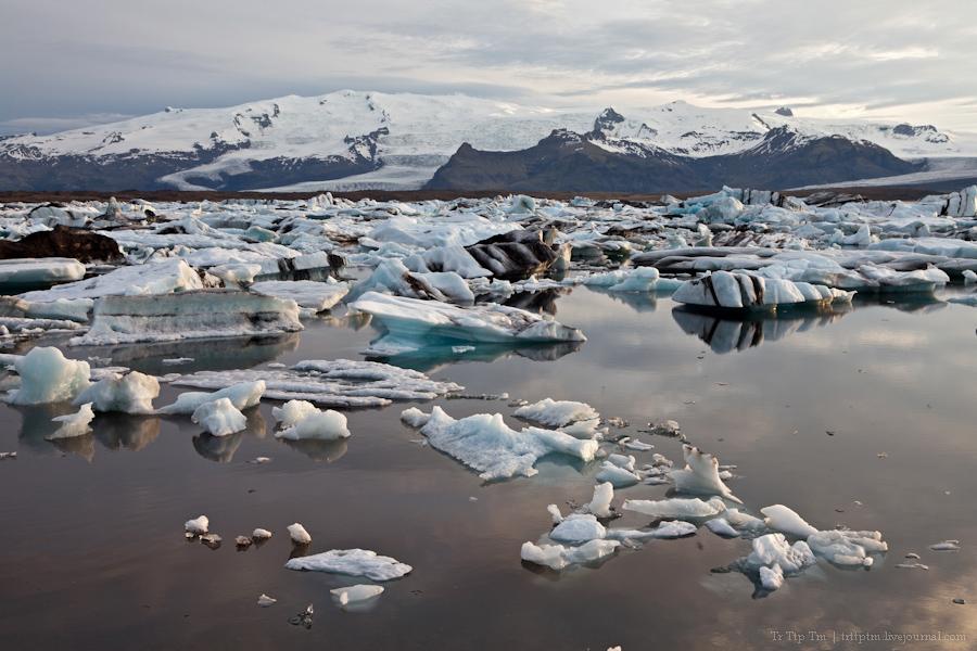 22. Тихий вечер у Ледниковой лагуны.