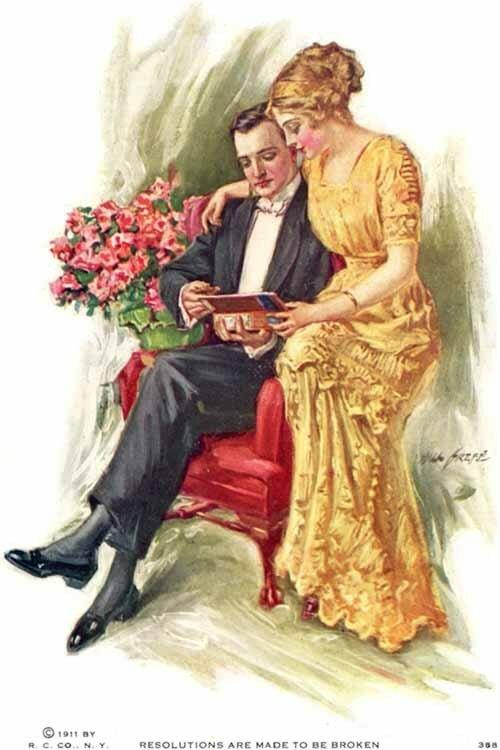 Про, старинные романтичные открытки