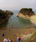 Сидари (Sidari) -  пляж Canal D'Amour западный