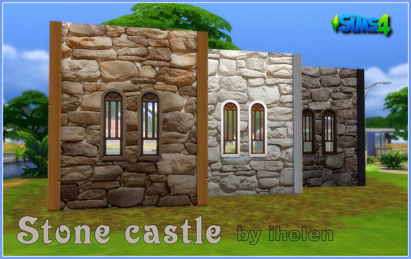 Stone castle walls by ihelen