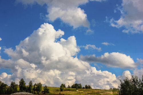 Облака, спускающиеся на землю