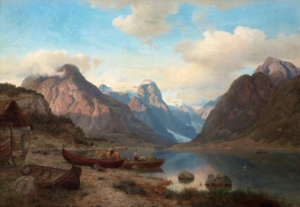 Hans-Fredrik-Gude-Norway-1825-1903-Indre-Fjaerlandsfjord-i-Sogn.-Signed-H-Gude-and-dated-1857.-Canvas-77-x-111-cm..jpg