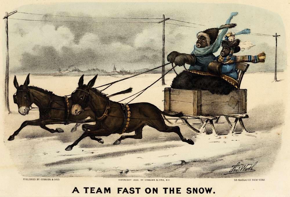 Быстрая езда по снегу