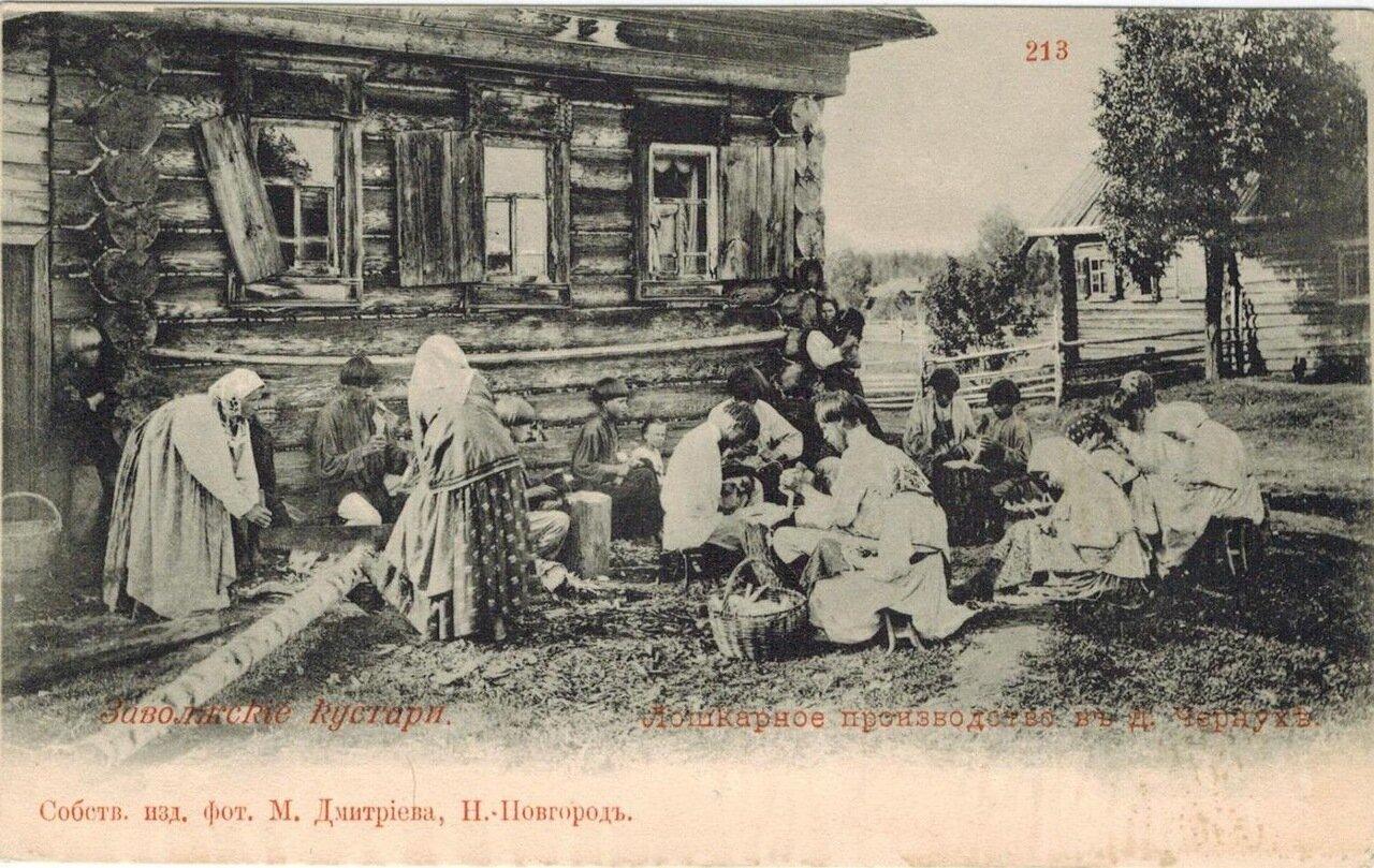 Лошкарное производство в деревне Чернухе