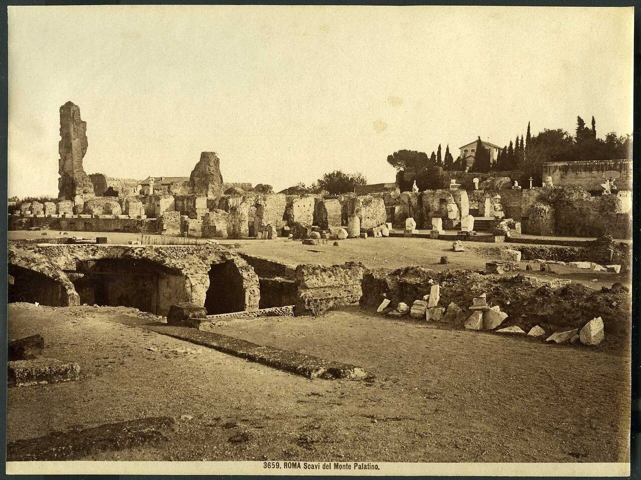 Археологические раскопки на Палатинском холме. 1900