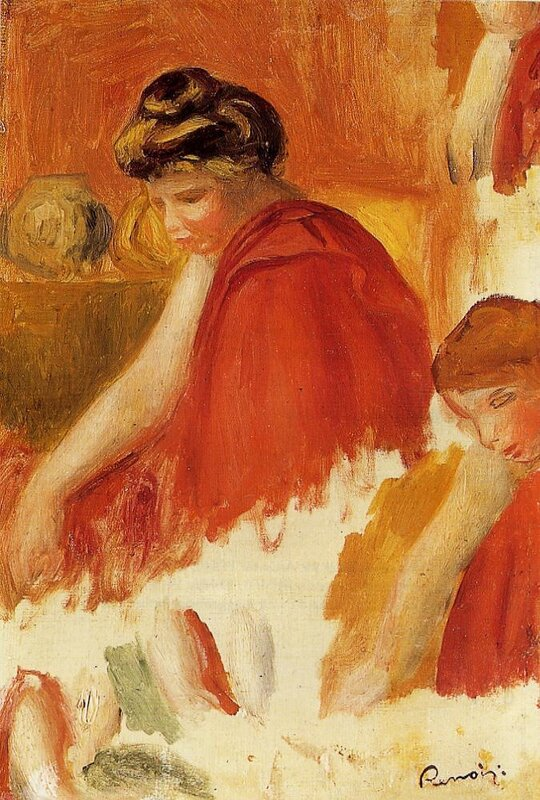 Two Women in Red Robes, Pierre-Auguste Renoir (1841-1919)