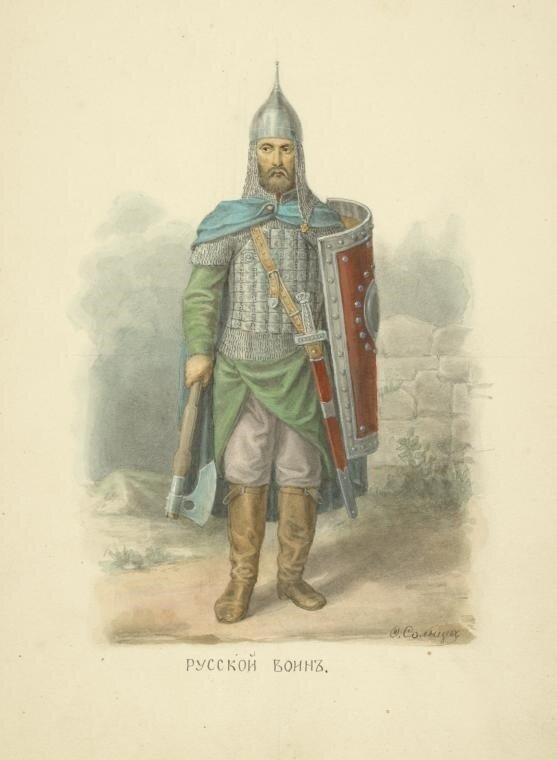 184. Русский воин.