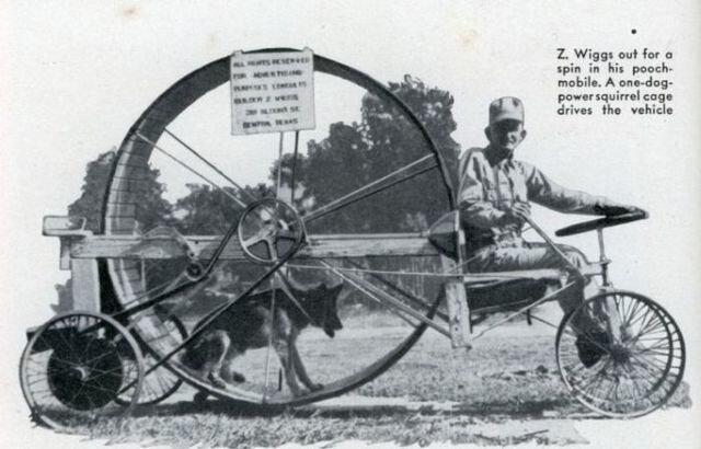 Собакомобиль с двигателем в одну собачью силу (США, 1939)