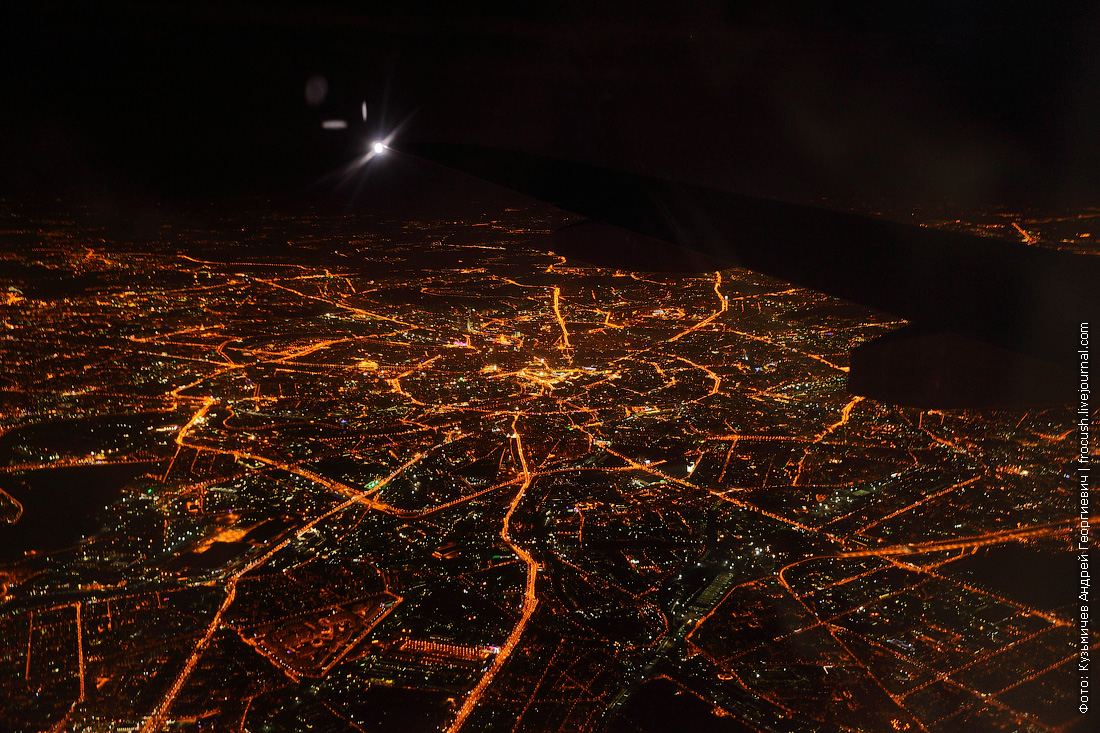 ночная Москва аэрофотосъемка