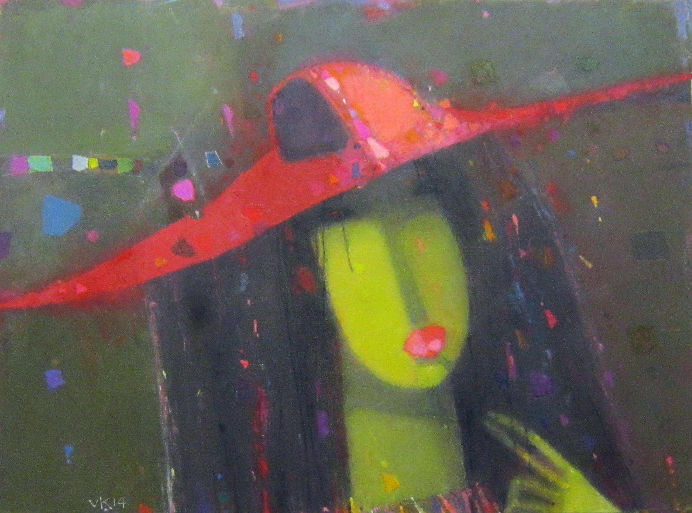Владимир Андреевич Карначёв (род. в 1953 году). Красная шляпа. 2014 год.