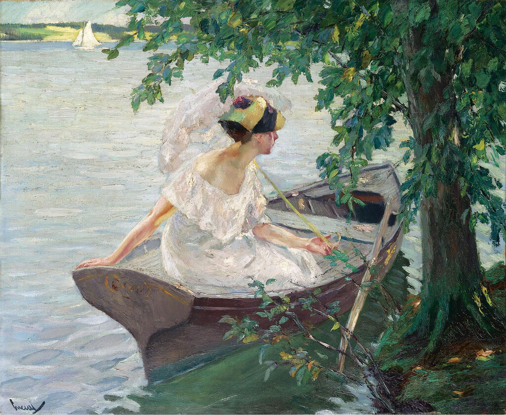 Edward Cucuel - An Outing by Boat, 1917.jpeg