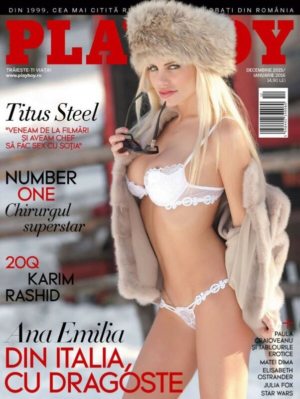 Ana Emilia in Playboy Romania December-January 2015-2016