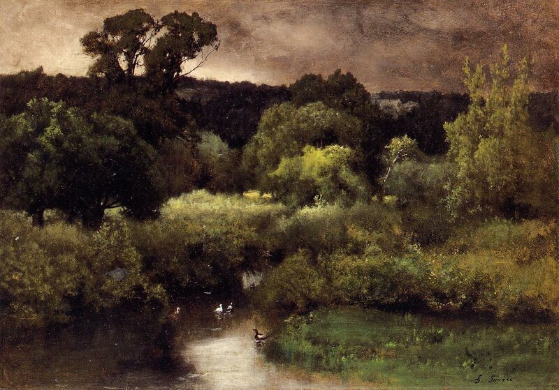 Inness George. A Gray Lowery Day