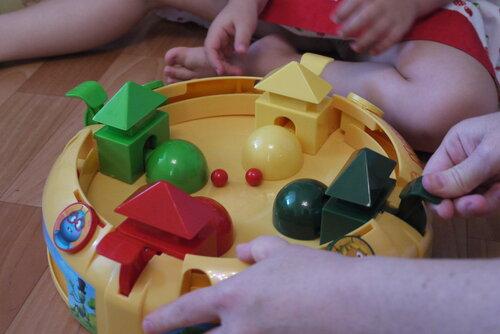 Сеанс игры в шарики