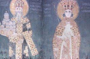 Сербия, история, Грачаница, фрески