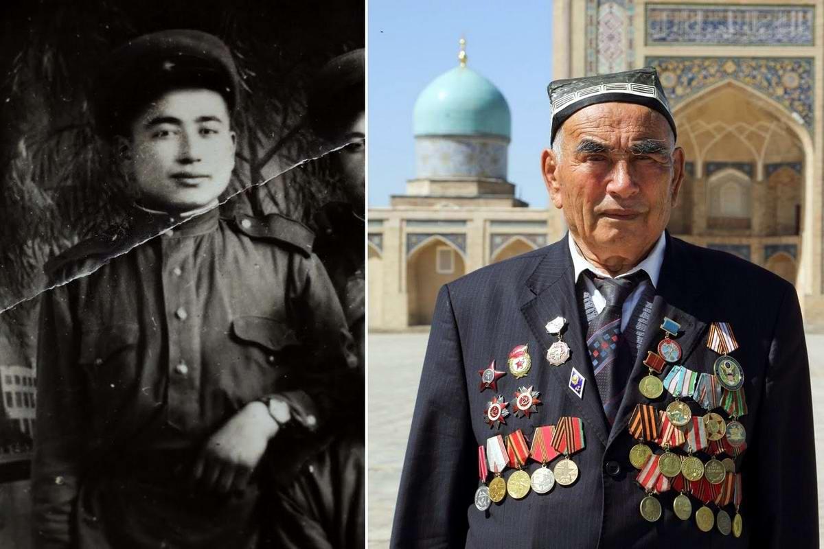 15 героев Великой Отечественной Войны из 15 республик Советского Союза - Узокбой Ажраев, уроженец Узбекистана, 90 лет