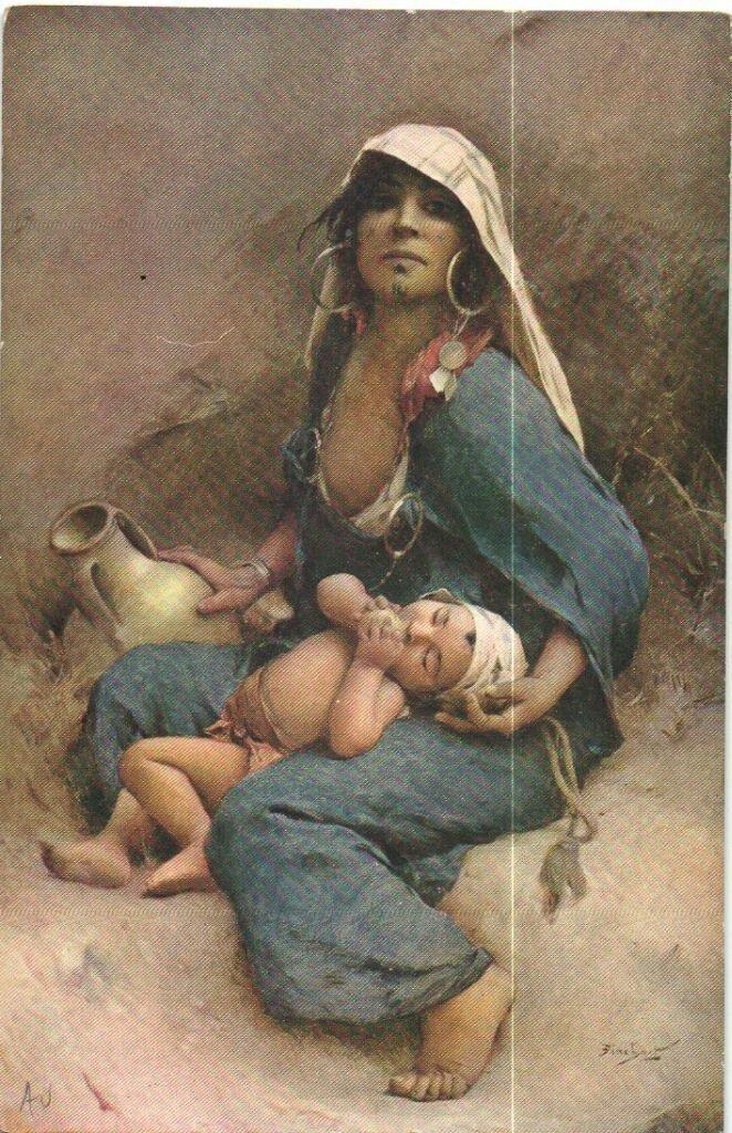 Туниска с ребенком