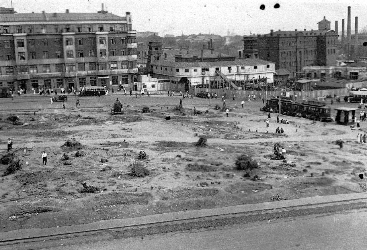 1934-1936. Площадь Курского вокзала. Реконструкция