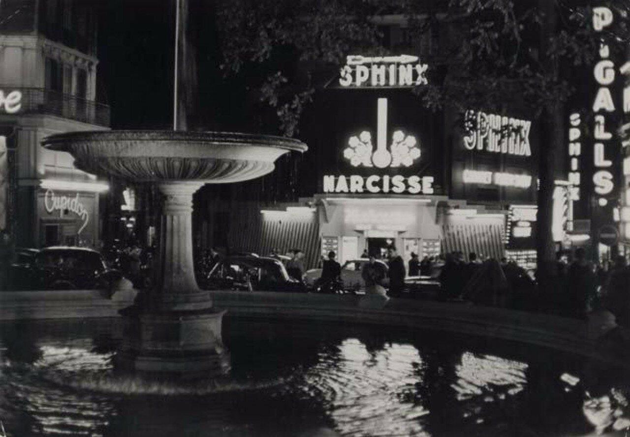 1955. Сфинкс, Нарцисс, площадь Пигаль, Париж