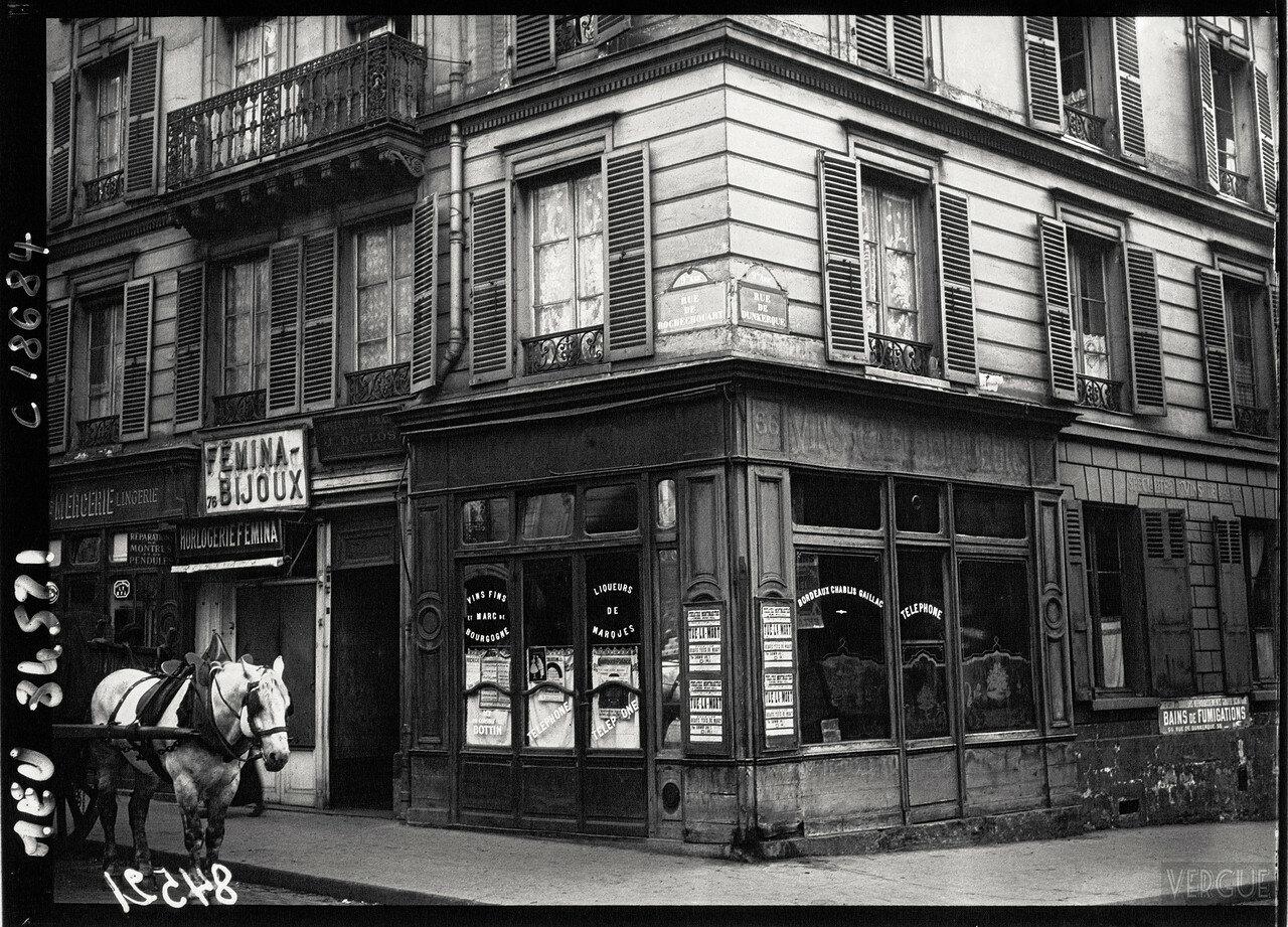 1920. Здание, в котором серийный убийца Анри Ландрю был арестован 12 апреля 1919 на рю Рошшуар, 76