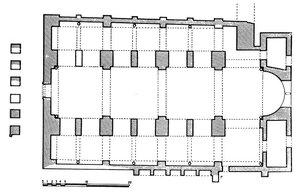 Базилика в Иерополисе, план