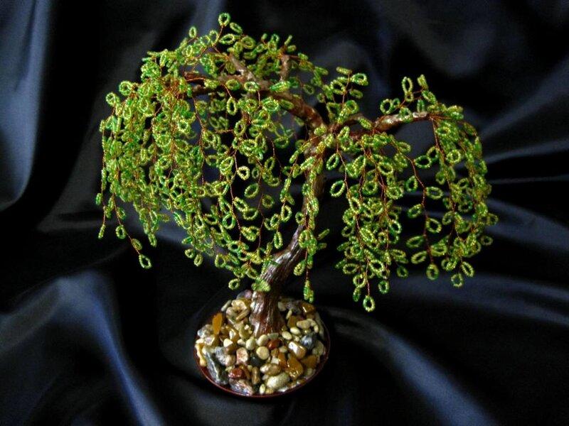 Дерево из бисера - Ива.